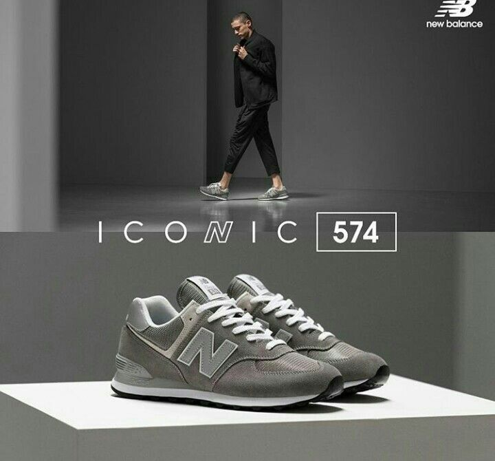 best sneakers 74800 3d356 New Balance 574 Iconic Grey | New Balance | New balance ...
