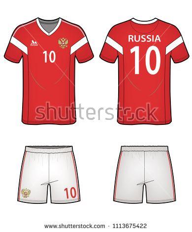 Soccer Uniform Design Vector Illustration Flat Sketches Template