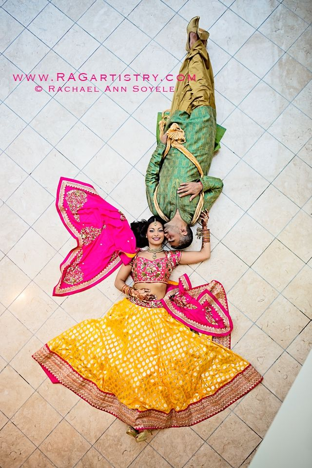 yellow and pink lehenga (lengha) for sangeet / mehndi #indian #wedding #southasian | courtesy R.A.G Artistry | For more inspiration visit www.shaadibelles.com