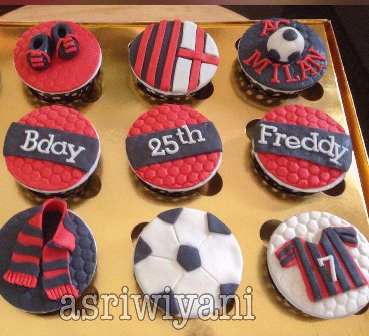 AC Milan cupcake ideas