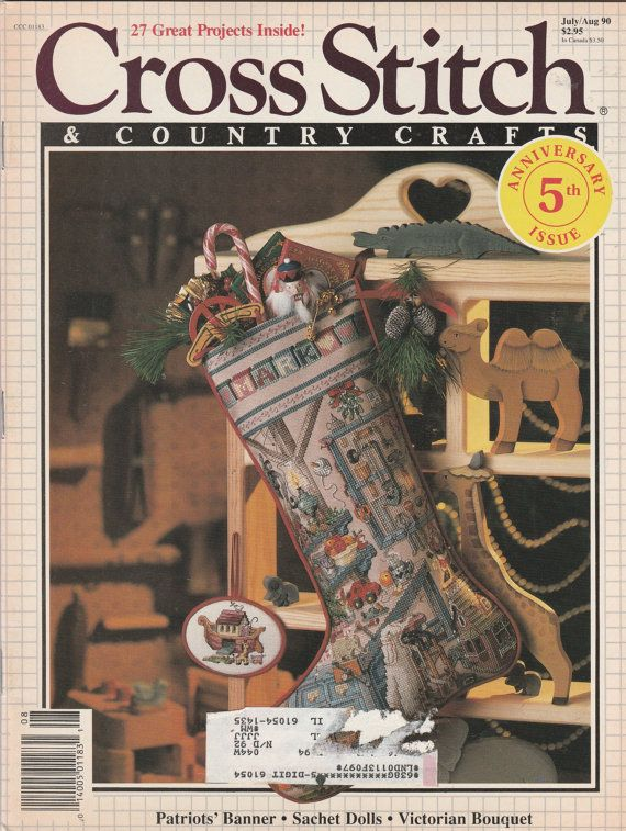 Vintage Cross Stitch Magazine Country Crafts by ShopHereVintage2