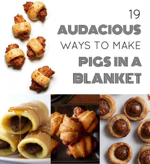 19 Audacious Ways To Make Pigs In A Blanket http://www.buzzfeed.com/rachelysanders/pigs-in-a-blanket-recipes?bffbfood&s=mobile