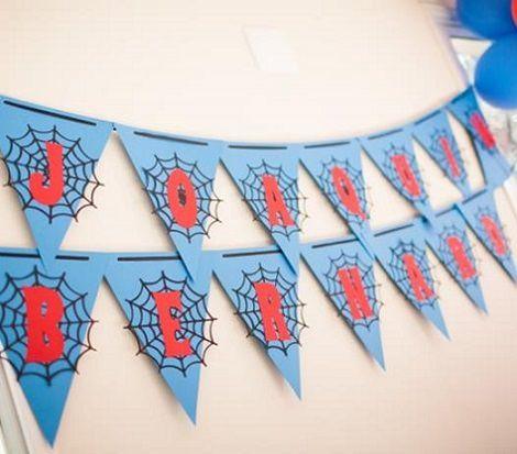 guirnalda de una fiesta del hombre araña
