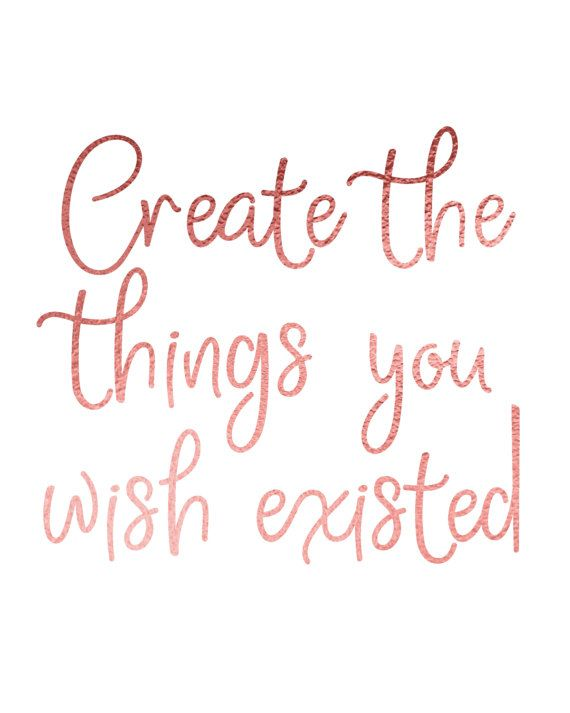 CREATE THE THINGS YOU WISH EXISTED BY BLOSSOM BLOOM DESIGN. If youre in need of a little extra positivity in your life, this printable wall art will be a beautiful reminder of what really matters... while also making the walls of your home look exceptionally pretty! It also makes a perfect last minute gift for anyone who needs a little extra inspiration in their life. CLICK TO BUY NOW