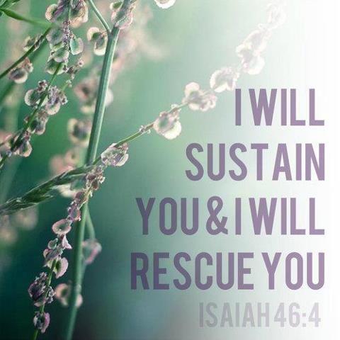 #Scripture                                      Isaiah 46:4