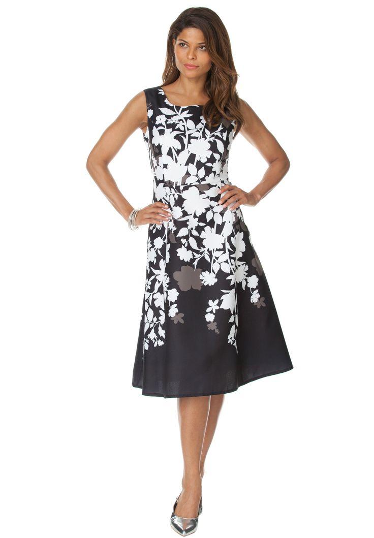 Ruffle Back Dress | Plus Size Evening Dresses | Roamans
