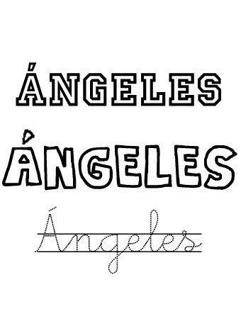 Angeles. Nombres 2 Agosto