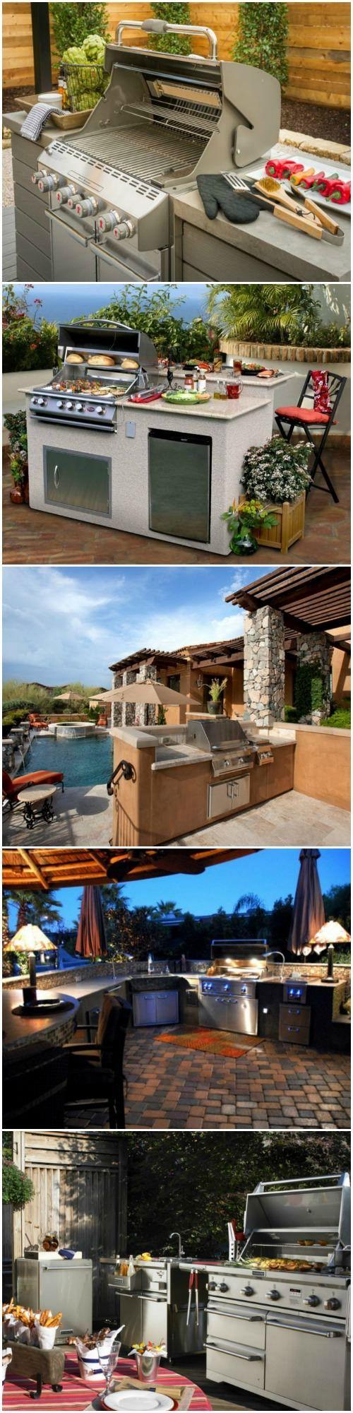 Top 20 DIY Outdoor Kitchen Ideas - patio-outdoor-furniture, grills-bbq-firepits