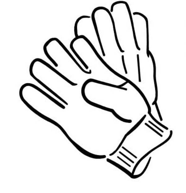 Winter Clothing Pair Of Gloves In Winter Clothing Coloring Page Coloring Pages Sports Coloring Pages Boxing Gloves Drawing