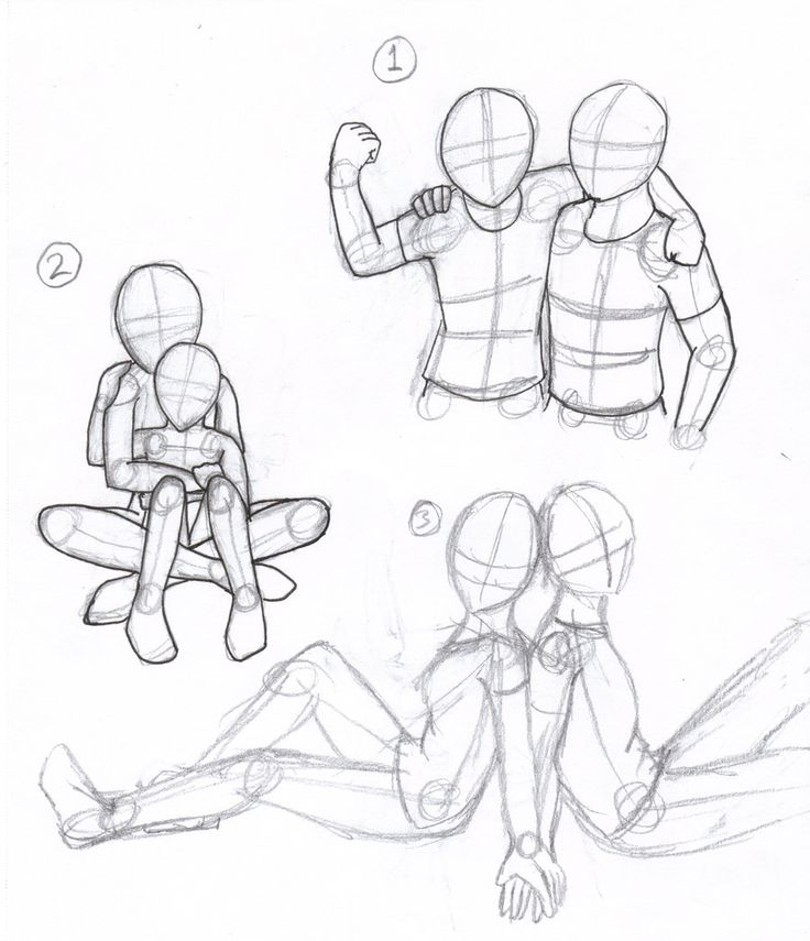 drawing poses | people poses by paradox rose traditional art drawings miscellaneous ...