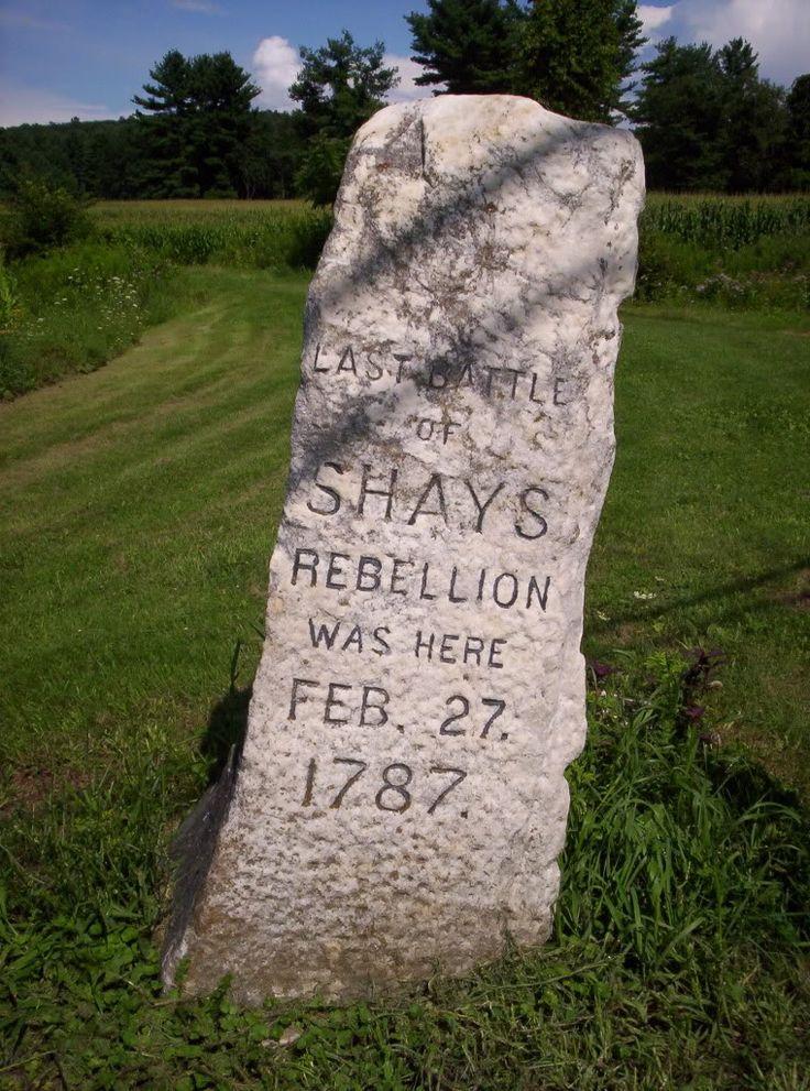 Shays's Rebellion Marker in Massachusetts