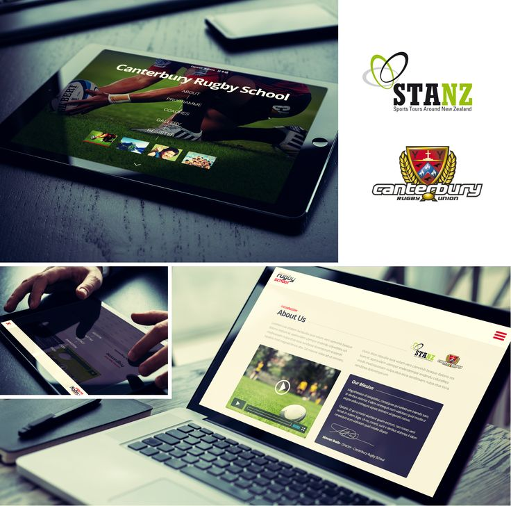 STANZ and Canterbury Rugby website design and development