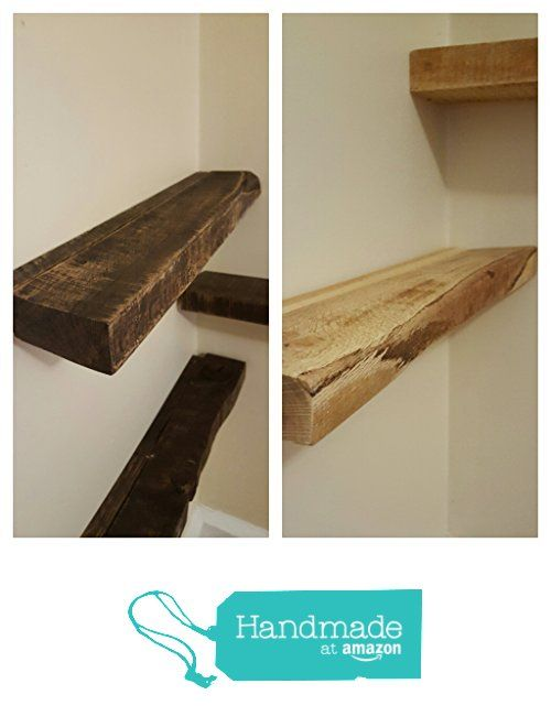 Rustic Oak Shabby Chic Solid Re-Purposed Wood Floating Shelf from Little Wood Creations http://www.amazon.com/dp/B01CZ96CSM/ref=hnd_sw_r_pi_dp_1C6kxb14DQMV3 #handmadeatamazon