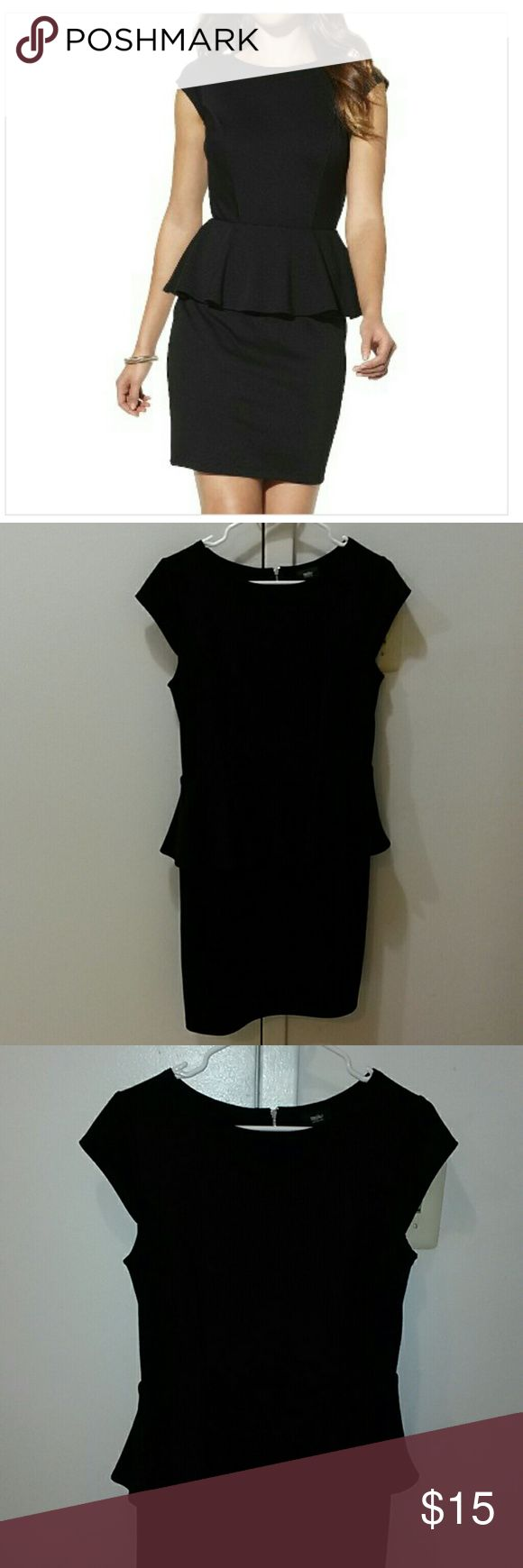 Mossimo Black Peplum Dress NWOT, zero defects. Tried on at home and just never got around to wearing it. Stretchy material, very figure - friendly and forgiving. Measurements upon request. Open to reasonable offers. Thanks for looking! Mossimo Supply Co Dresses