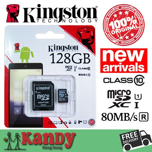 SALE Kingston micro sd card memory card 128gb class 10 80MBs high speed microsd cartao de memoria tarjeta micro sd carte tf card | Price: US $57.69 | http://www.bestali.com/goto/1791049619/10