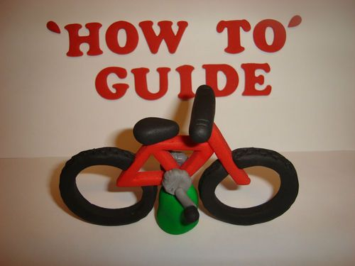 How to make an edible Mountain bike cake topper out of modelling fondant