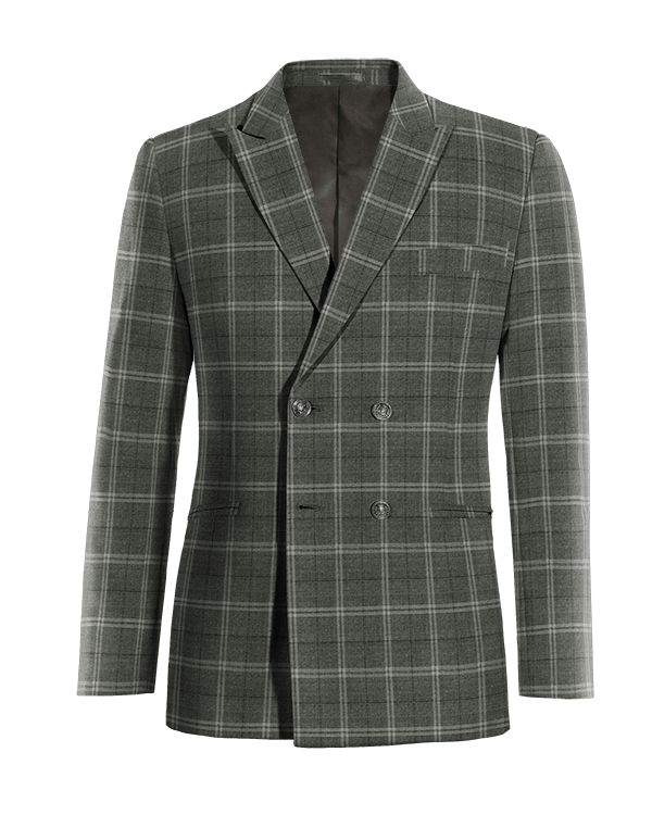 Grey double breasted checked wool Blazer http://www.tailor4less.com/en/men/blazers/4055-grey-double-breasted-checked-wool-blazer