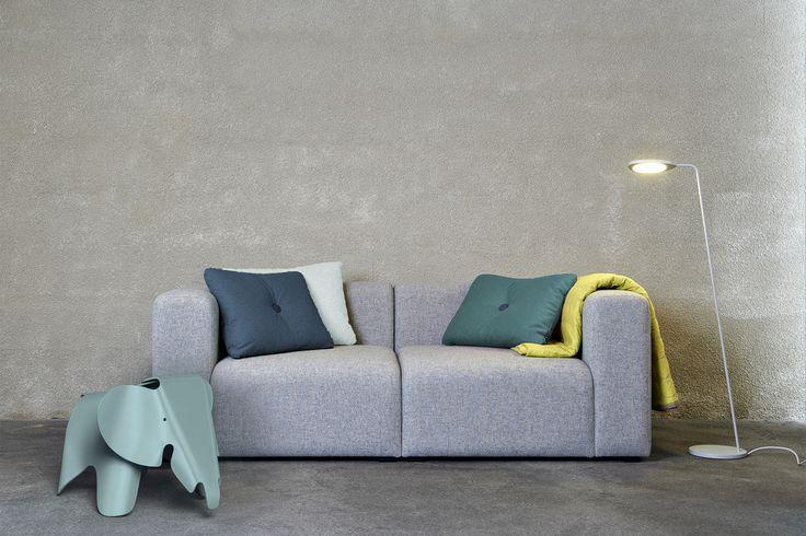 vitra - Eames Elephant | HAY - Mags, Dot Cushions, Mega Dot Quilt | muuto - Leaf Floor Lamp