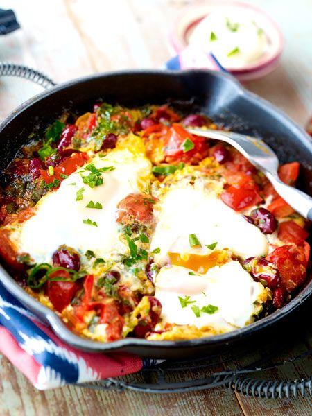 Ranchero-Pfanne mit Bohnen und Ei