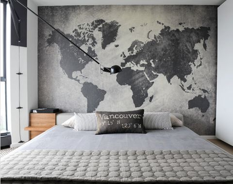 For the master bedroom. Glorya: I think of lovers when I look at this bedroom.