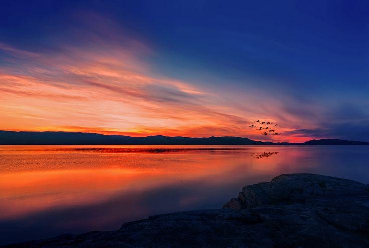 Midnight Sunset In Ekne Norway by Aziz Nasuti on 500px