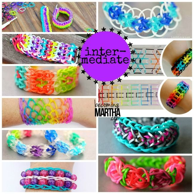 rubber band bracelets without the loom!