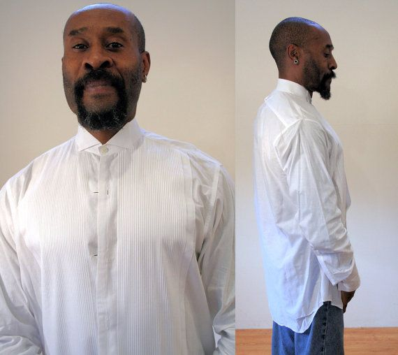 Vintage Brooks Brothers Tux Shirt White Tuxedo Shirt Black
