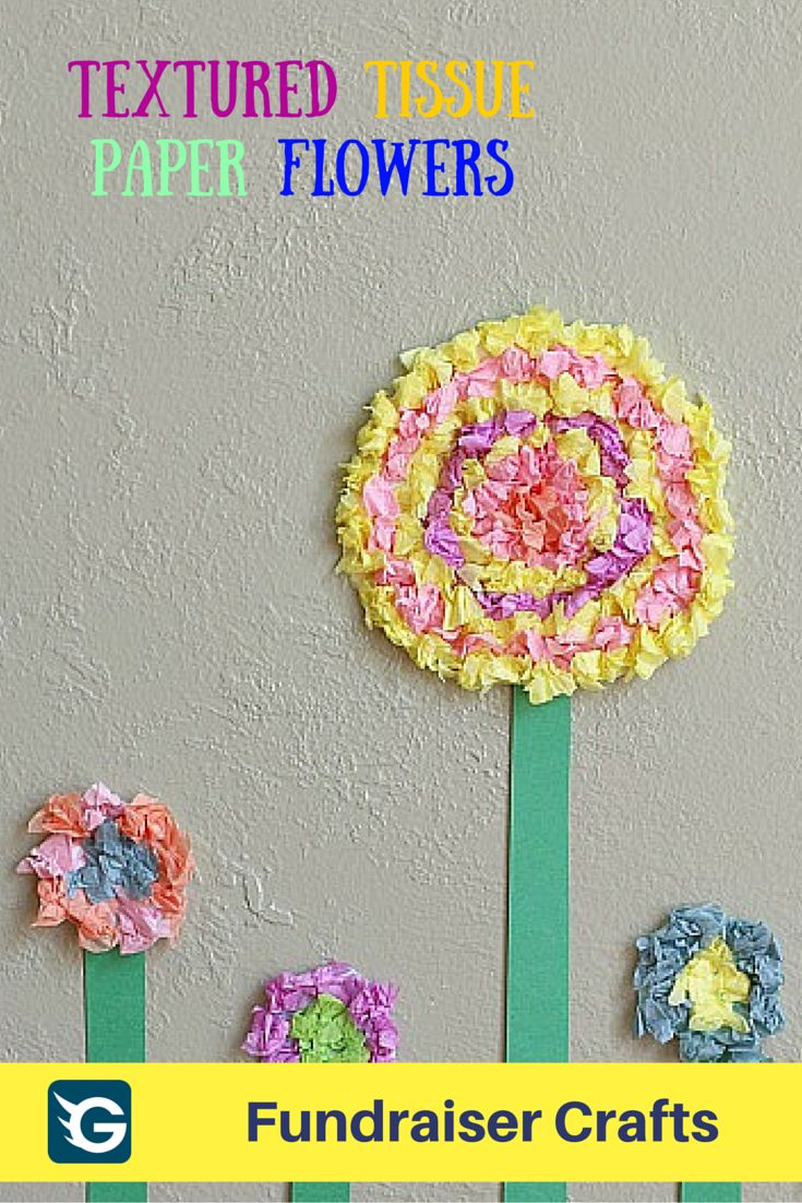 54 best fundraiser crafts images on pinterest fundraiser crafts flower crafts for kids textured tissue paper flowers dhlflorist Image collections
