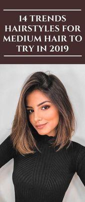 14 Trends Frisuren für mittleres Haar zum Ausprobieren ...