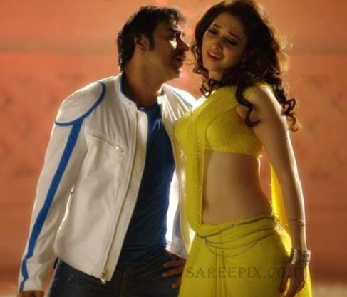 INDIAN ACTRESS: Tamanna Bhatia Latest bollywood movie Himmatwala hot song backless yellow saree
