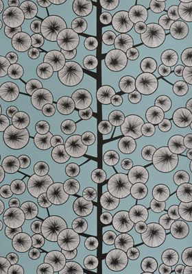 Cotton Tree Sky Blue Wallpaper by MissPrint. PEFC certified and printed in the UK
