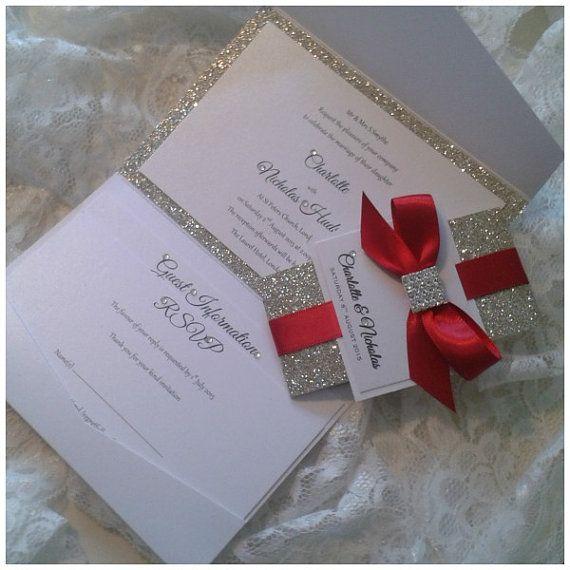 Luxury Handmade sparkle and glitter door CrystalCoutureInvite
