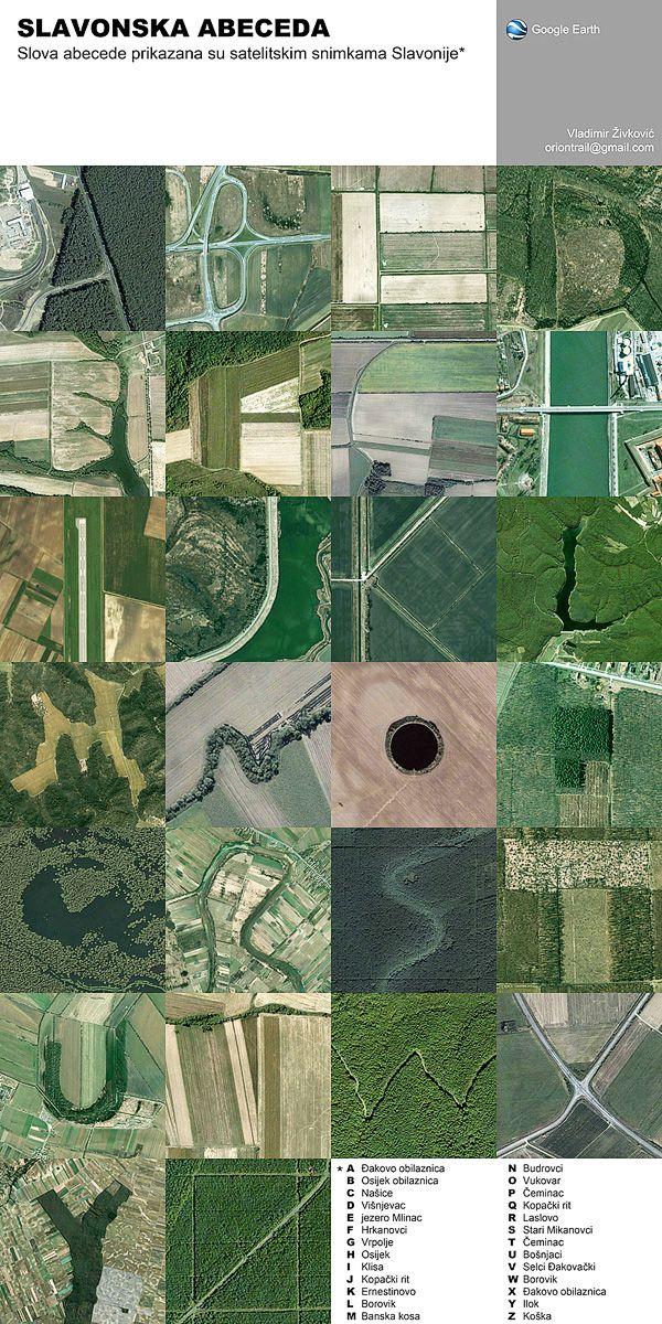 Google Earth Alphabet by Vladimir Zivkovic, via Behance