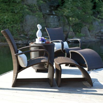halo patio set collection by summer classics modern outdoor