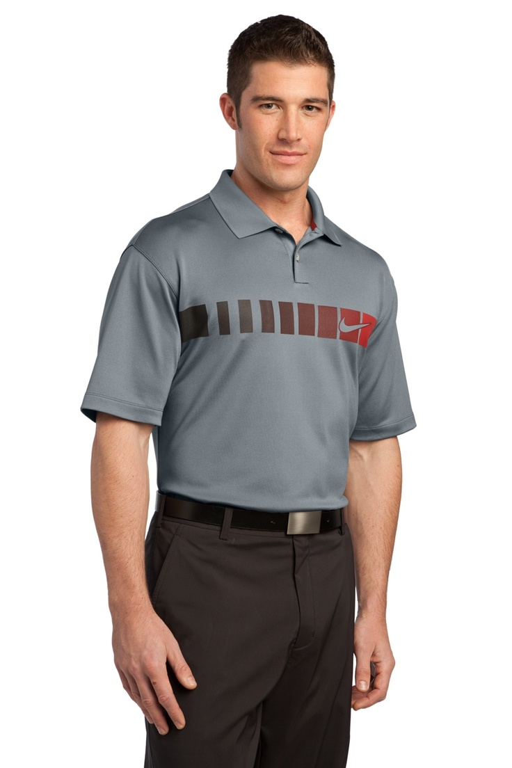 nike golf dri fit chest stripe print polo shirts uniform. Black Bedroom Furniture Sets. Home Design Ideas