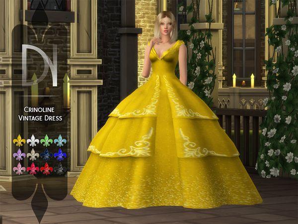 Sims 4 Cc Ballgown Sims 4 Wedding Dress Sims 4 Dresses