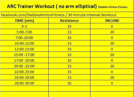 Arc Trainer #workout follow DebbieHintonFitness on instagram or twitter #debbiehintonfitness