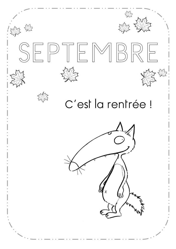 Les mois de l'année en GS avec le Loup Auzou - Des cartables et des crayons