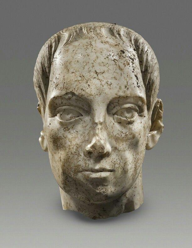 Marble head of a Roman citizen. Roman, c. 250 A.D. | Phoenix Ancient Art Gallery