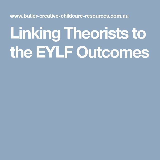 Linking Theorists to the EYLF Outcomes
