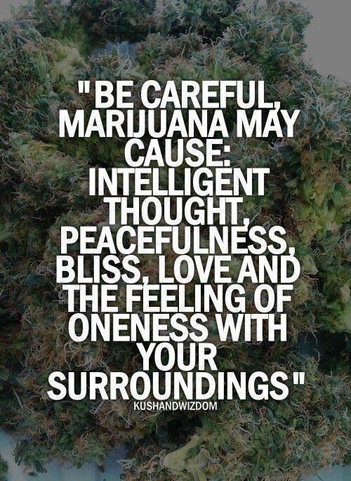 Im one with marijuana. I'm high right now!