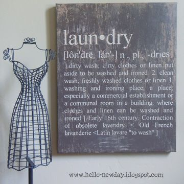 diy laundry definition art- Ballard Design knockoff