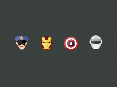 Flat Super Heroes by Stafie Anatolie