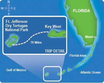 how do you get to dry tortugas park | Dry Tortugas National Park Map