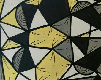 "Pintura abstracta original dmvdamuvi ""Geometría III"" Cuadro original arte moderno contemporaneo. Geometria abstracta"