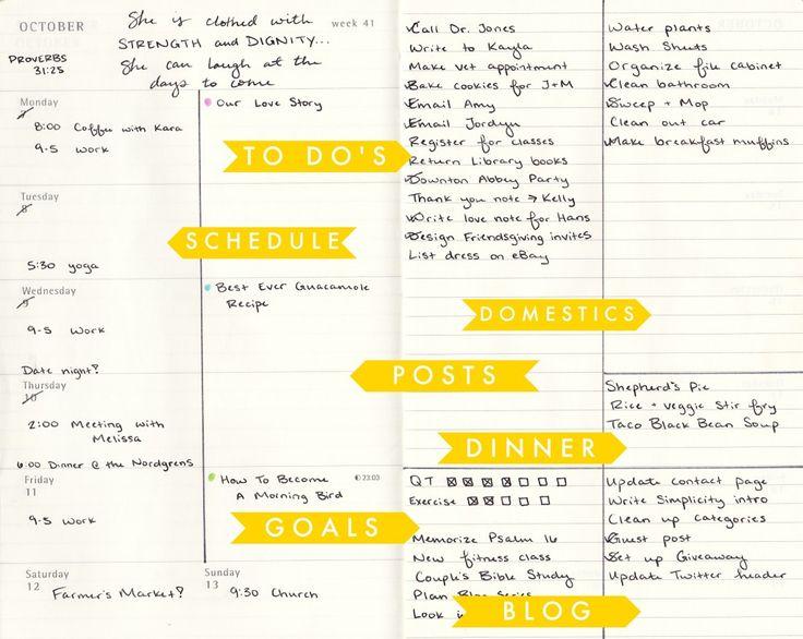 Moleskine Weekly Planner Hack Ideas DIY