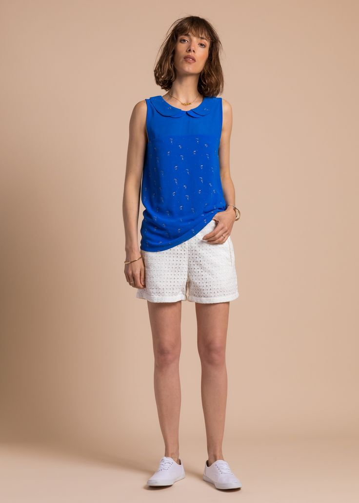 Collection PE 17 | La petite étoile chemise manches courtes  col claudine  casual wear  casual chic