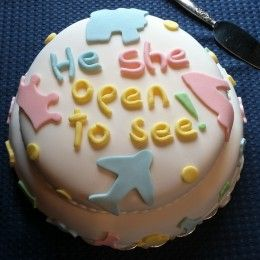 """Baby Gender Reveal Party Ideas -I like this saying better than """"it's"""" a boy/girl."""