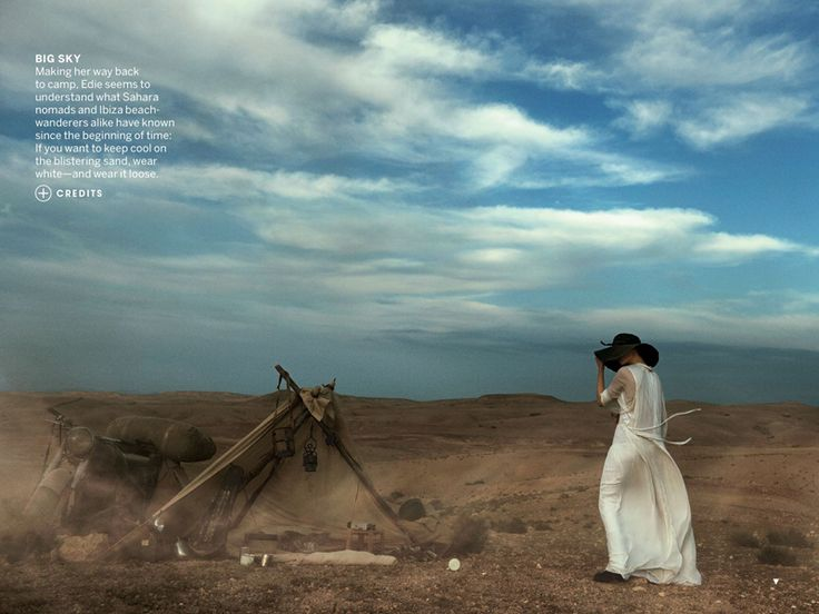 Edie Campbell by Peter Lindbergh for US Vogue May 2013