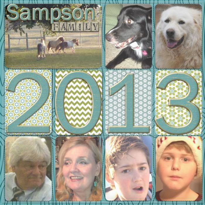Sampson Family.  Project Life Title Page - Digital Scrapbooking Ideas - DesignerDigitals